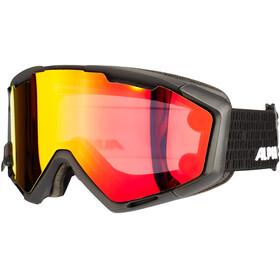 Alpina Panoma Magnetic Q+SM S1+S3 Gogle czerwony/czarny